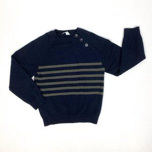 Jacadi Paris Boys Navy Blue Striped Sweater Size 6